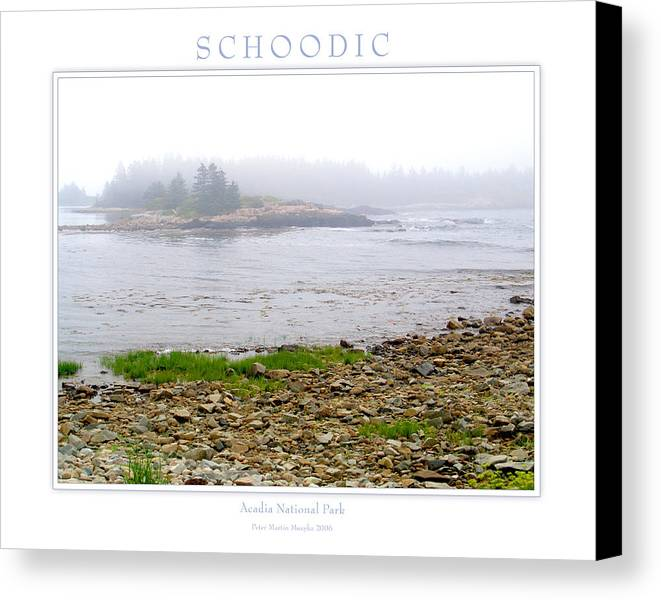 Landscape Canvas Print featuring the photograph Schoodic by Peter Muzyka
