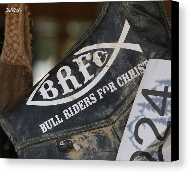 Rodeo Canvas Print featuring the photograph Self Explanatory.. by Carol Miller