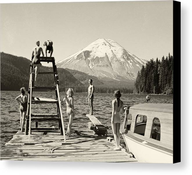 Canvas Print featuring the photograph Spirit Lake by Ray Atkinsen
