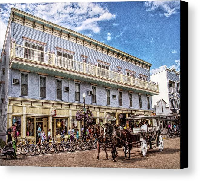 Mackinac Canvas Print featuring the photograph The Murray Hotel At Mackinac Island by Rebecca Snyder