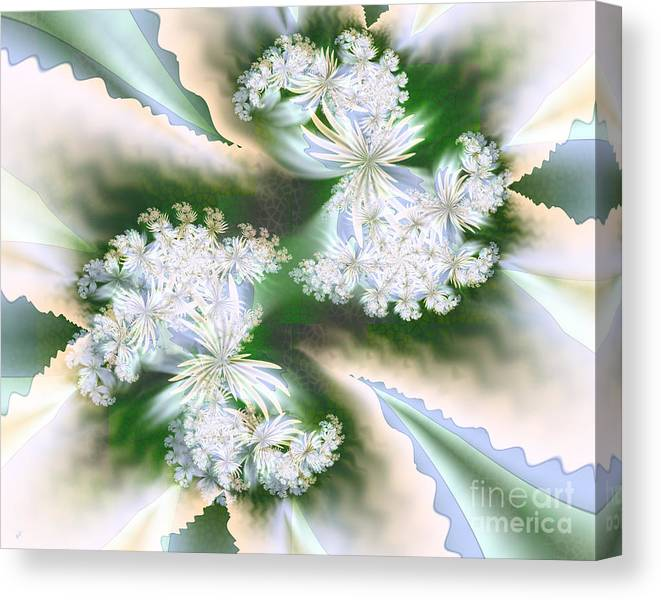 Anticipating Spring Canvas Print featuring the digital art Anticipating Spring by Kimberly Hansen