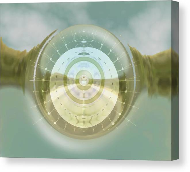 Clouds Canvas Print featuring the digital art Dream Day by Wendy J St Christopher
