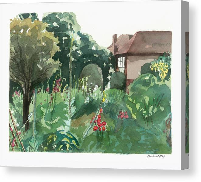 England Canvas Print featuring the painting Shottery 10x8 by Kendra Kurth Clinton