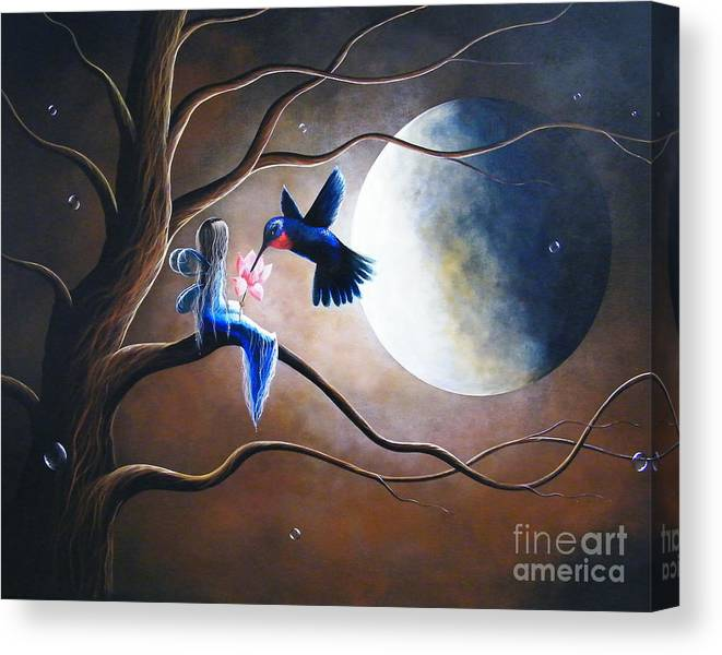 Hummingbird Canvas Print featuring the painting What Love Looks Like By Shawna Erback by Erback Art