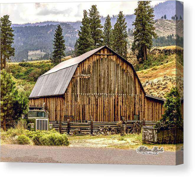 Barn Canvas Print featuring the photograph Rural Oregon Barn by William Havle