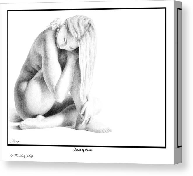 Print Canvas Print featuring the drawing Grace Of Form Print Only by Joseph Ogle