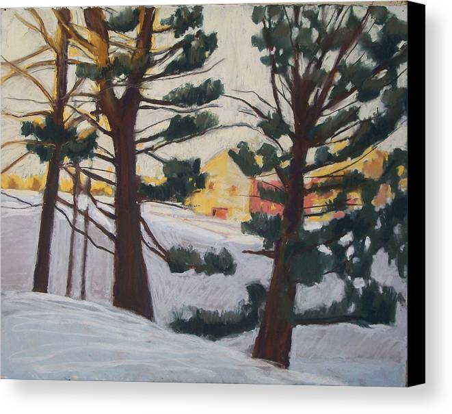 Maine Canvas Print featuring the pastel A Certain Slant Of Light by Grace Keown