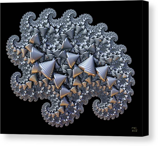 Abstract Canvas Print featuring the digital art Shell Amoeba by Manny Lorenzo