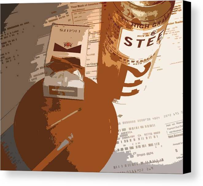 Credit Canvas Print featuring the photograph Steel Reserve by Jennifer Ott