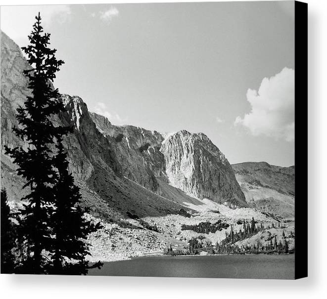 Landscape Canvas Print featuring the photograph Below Medicine Bow by Allan McConnell