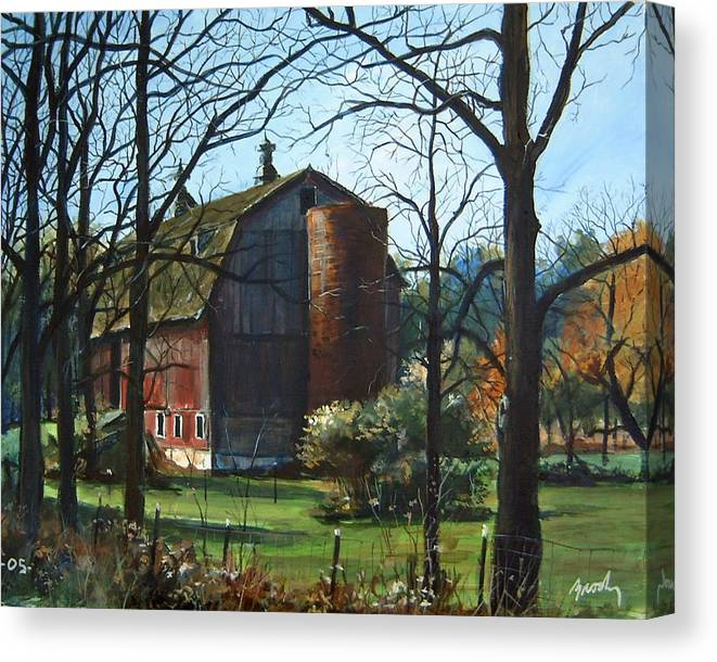 Landscape Canvas Print featuring the painting Remember When by William Brody