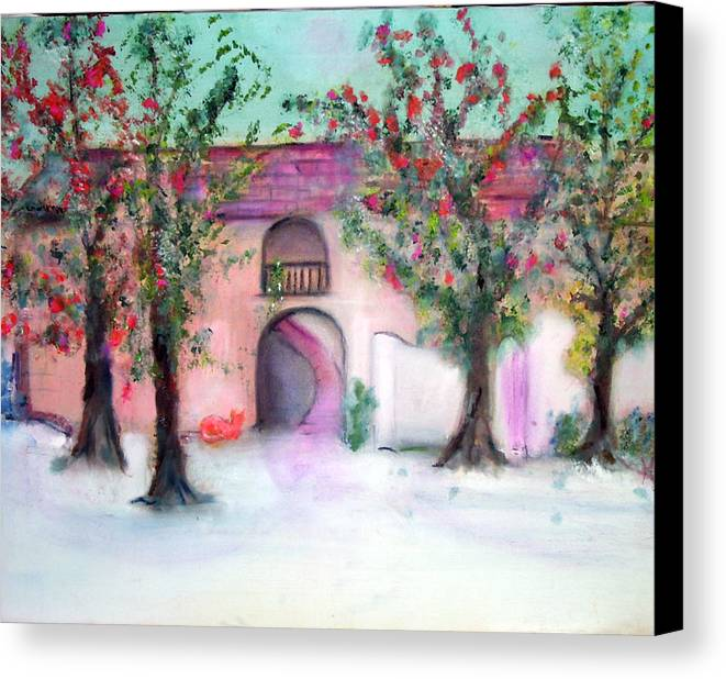 Hacienda Canvas Print featuring the painting Hacienda by Michela Akers