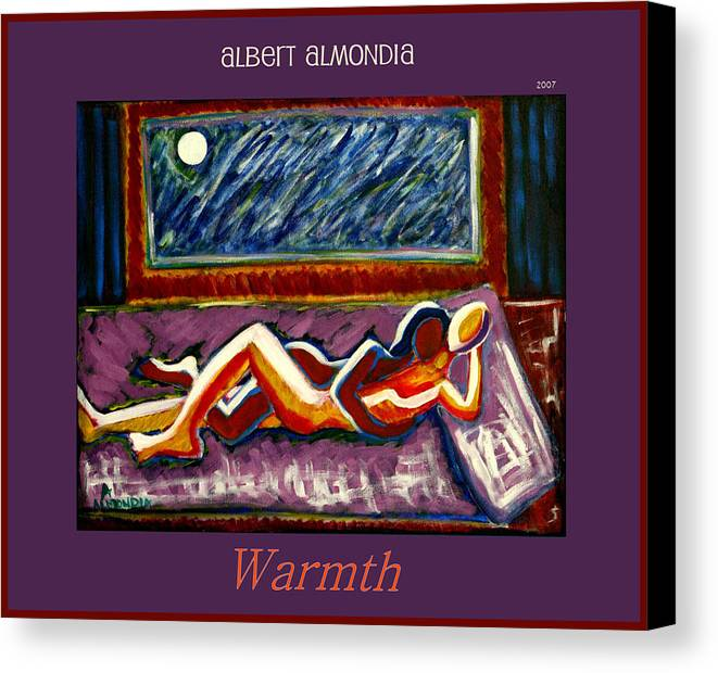 Relationships Canvas Print featuring the painting Warmth by Albert Almondia