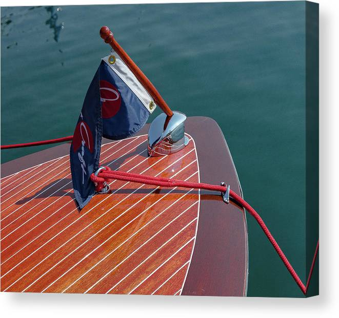 H2omark Canvas Print featuring the photograph Classic Chris Craft by Steven Lapkin