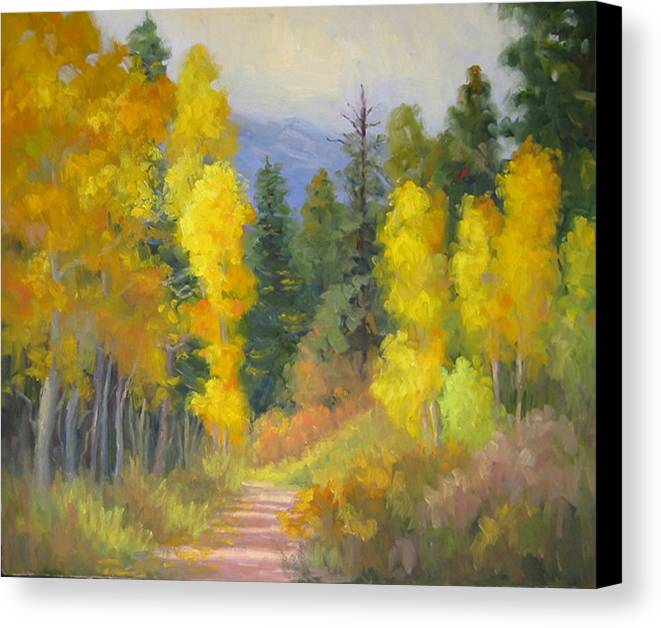 Autumn Canvas Print featuring the painting Autumn Ambience by Bunny Oliver
