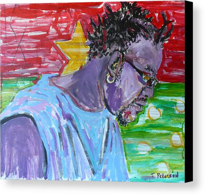 Acrylic Canvas Print featuring the painting Man From Burkina Faso by Todd Peterson