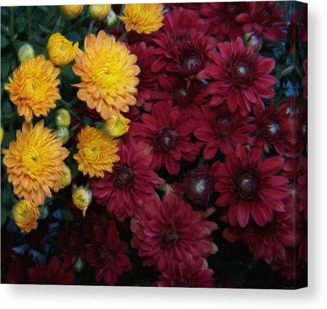 Digital Painting Canvas Print featuring the painting Touch Of Fall by Evelyn Patrick