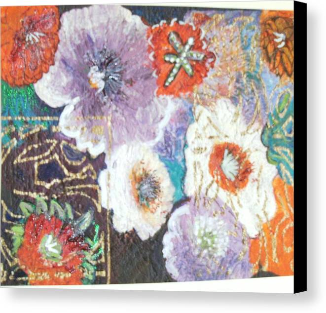 Canvas Print featuring the mixed media Naturally Rich by Anne-Elizabeth Whiteway