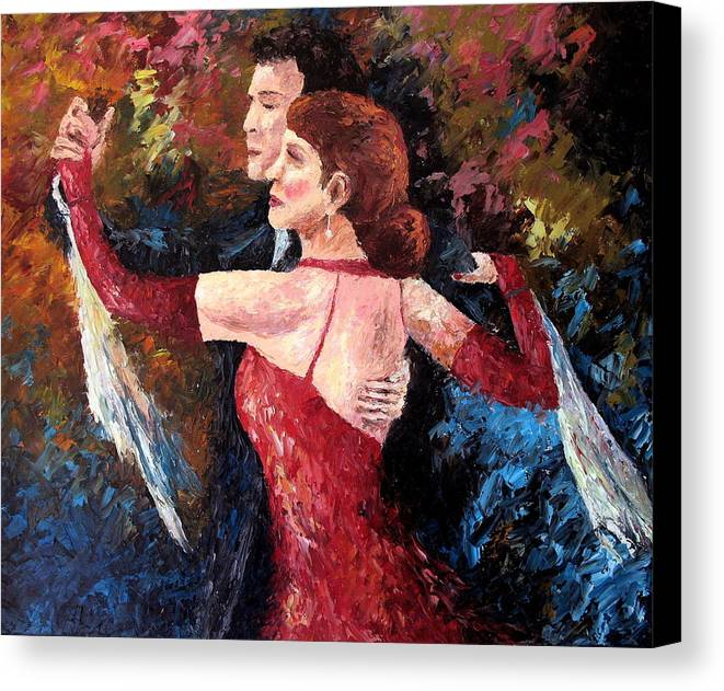 Tango Canvas Print featuring the painting Two To Tango by David G Paul