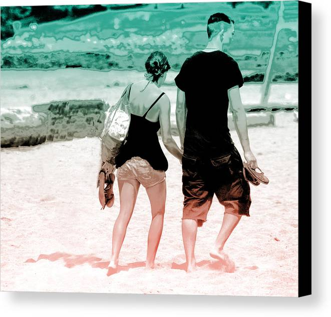 Walk Canvas Print featuring the photograph Walk With Me by Barbara White