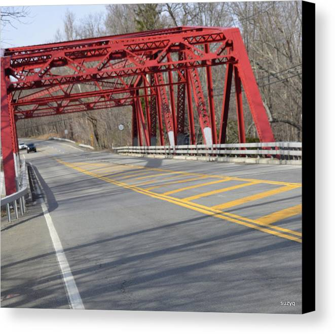 Red Canvas Print featuring the photograph Red by Sue Rosen