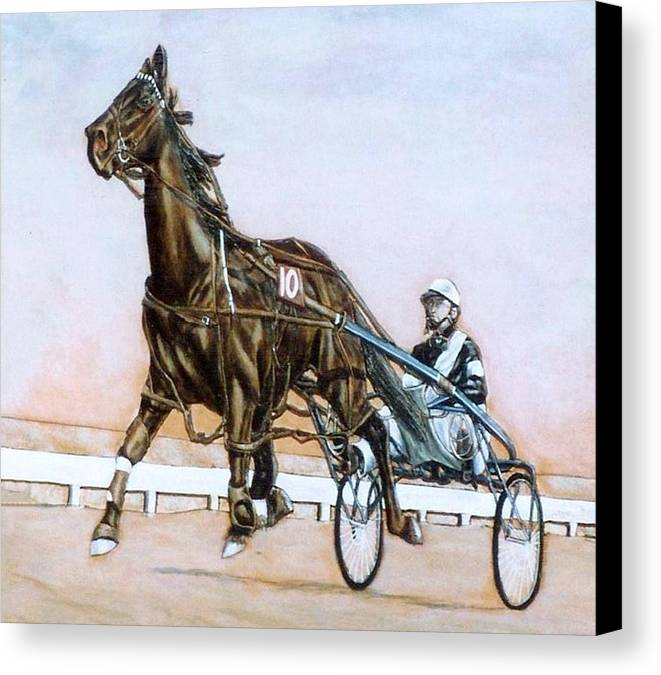 Horses Canvas Print featuring the painting The Pacer by Lilly King