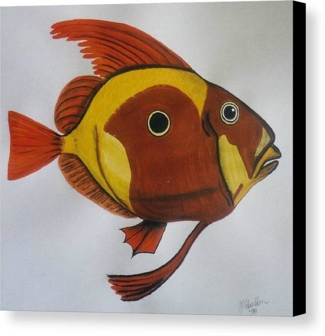 John Dory Canvas Print featuring the painting John Dory by Joan Stratton