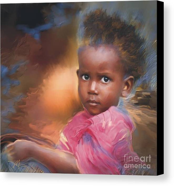 Portrait Canvas Print featuring the painting Hour Of Need by Bob Salo