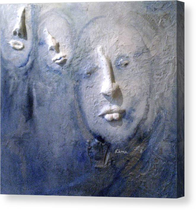 Portraits Canvas Print featuring the painting Metamorphosis by Kime Einhorn