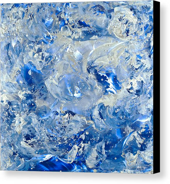 Abstract Painting Canvas Print featuring the painting Wipe Out II by Danita Cole