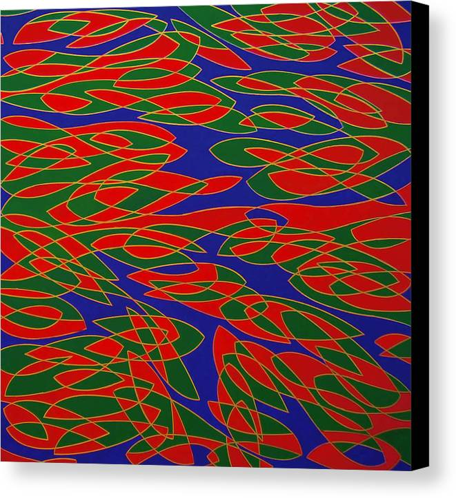Abstract Canvas Print featuring the painting Ninfee by Graziano Peressini