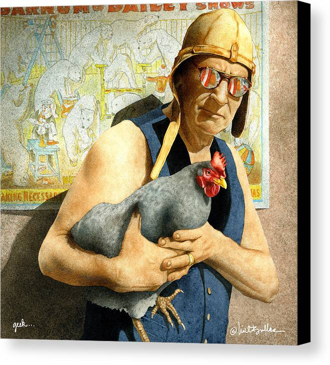 Will Bullas Canvas Print featuring the painting Geek... by Will Bullas