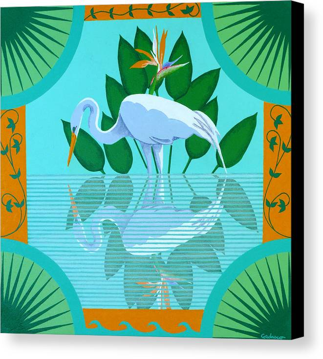 Contemporary Canvas Print featuring the painting Reflection by James Cordasco