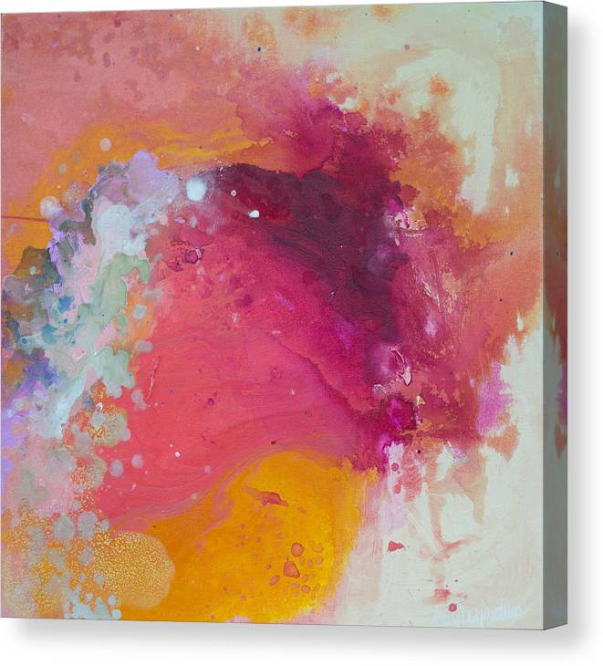 Abstract Canvas Print featuring the painting Controlled Chaos by Claire Desjardins