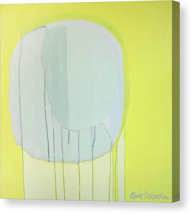 Abstract Canvas Print featuring the painting Quien Esta? by Claire Desjardins