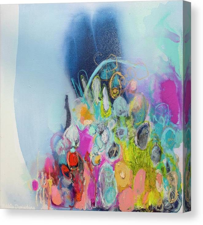 Abstract Canvas Print featuring the painting Still Playing by Claire Desjardins