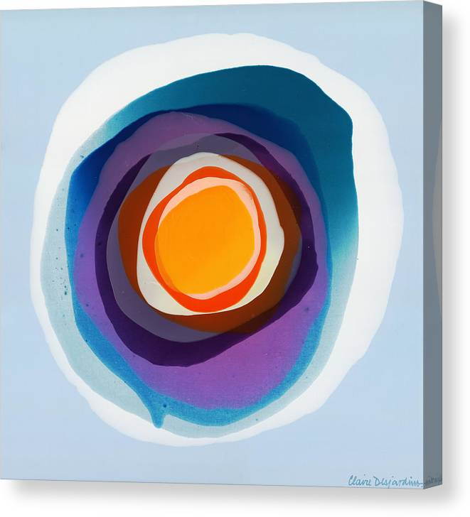 Abstract Canvas Print featuring the painting Focussed by Claire Desjardins