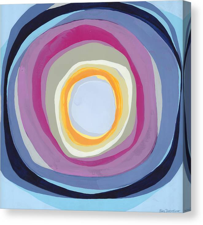 Abstract Canvas Print featuring the painting Hang Cool by Claire Desjardins