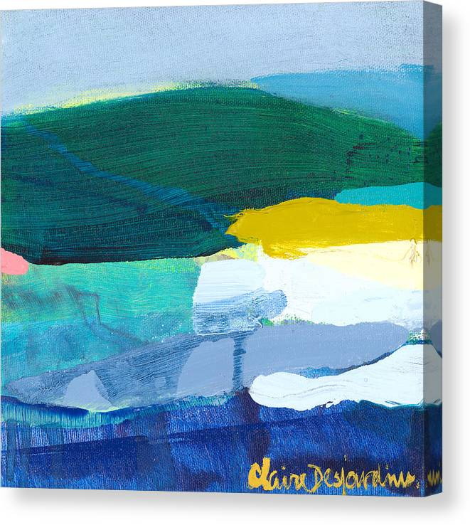 Abstract Canvas Print featuring the painting When Winter Melts Away by Claire Desjardins