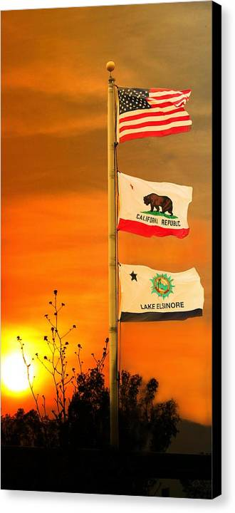 Canvas Print featuring the photograph California Glory by Richard Gordon