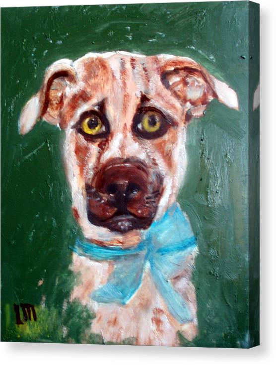 Animals Canvas Print featuring the painting Golden by Lia Marsman