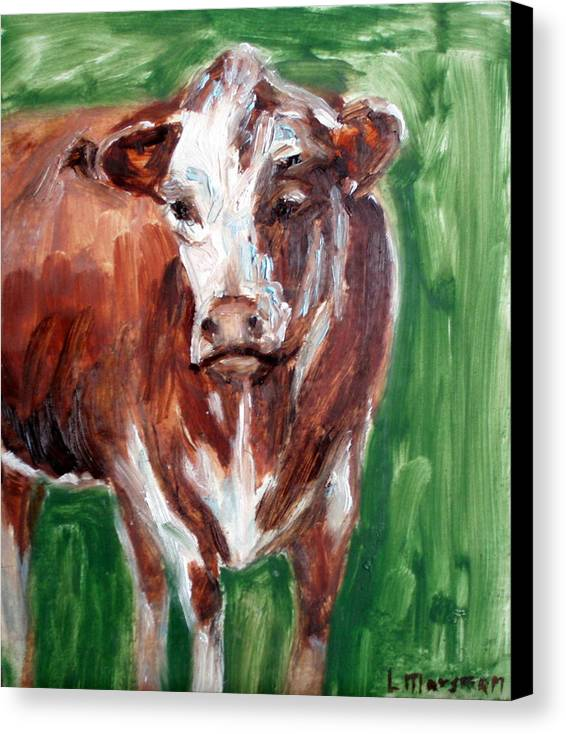 Animals Canvas Print featuring the painting Alabama Cow by Lia Marsman