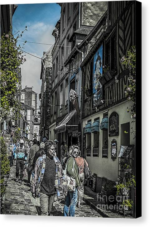 Street Canvas Print featuring the photograph France Street by Fred Imon