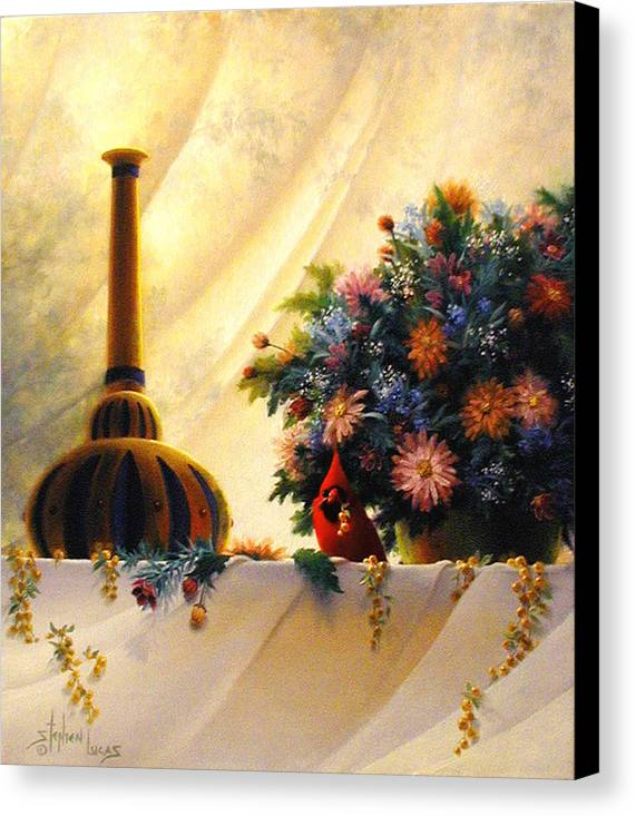 Impressionism Canvas Print featuring the painting The Red Genie by Stephen Lucas