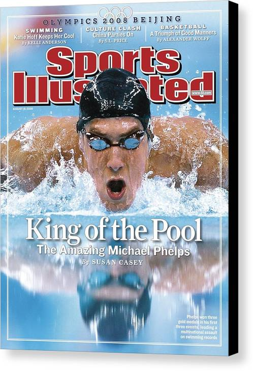 Magazine Cover Canvas Print featuring the photograph , 2008 Summer Olympics Sports Illustrated Cover by Sports Illustrated