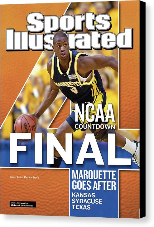 Hubert H. Humphrey Metrodome Canvas Print featuring the photograph 2003 Ncaa Final Four Countdown Sports Illustrated Cover by Sports Illustrated