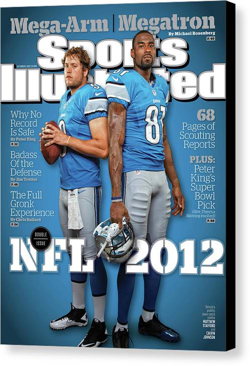 Magazine Cover Canvas Print featuring the photograph 2012 Nfl Football Preview Issue Sports Illustrated Cover by Sports Illustrated