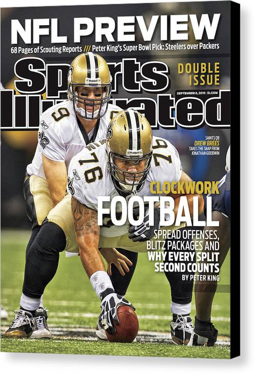 Magazine Cover Canvas Print featuring the photograph San Diego Chargers V New Orleans Saints Sports Illustrated Cover by Sports Illustrated