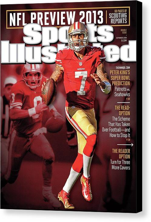 Candlestick Park Canvas Print featuring the photograph The New Kings 2013 Nfl Football Preview Issue Sports Illustrated Cover by Sports Illustrated