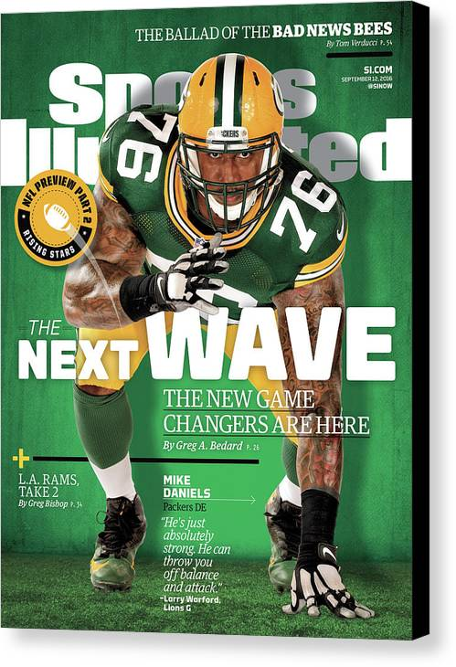 Green Bay Canvas Print featuring the photograph The Next Wave The New Game Changers Are Here Sports Illustrated Cover by Sports Illustrated